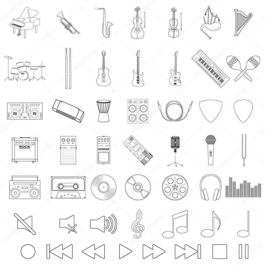 Musical Instrument Set — Stock Vector © Zarian #85628172 à Jeu Des Instruments De Musique