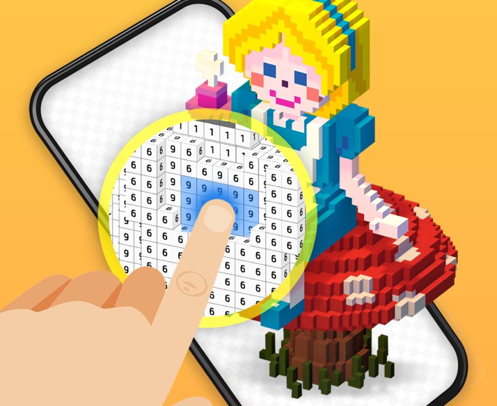 My Coloring, Un Jeu-Livre De Coloriage Pixel Art 3D Pour à Jeu De Coloriage Pixel