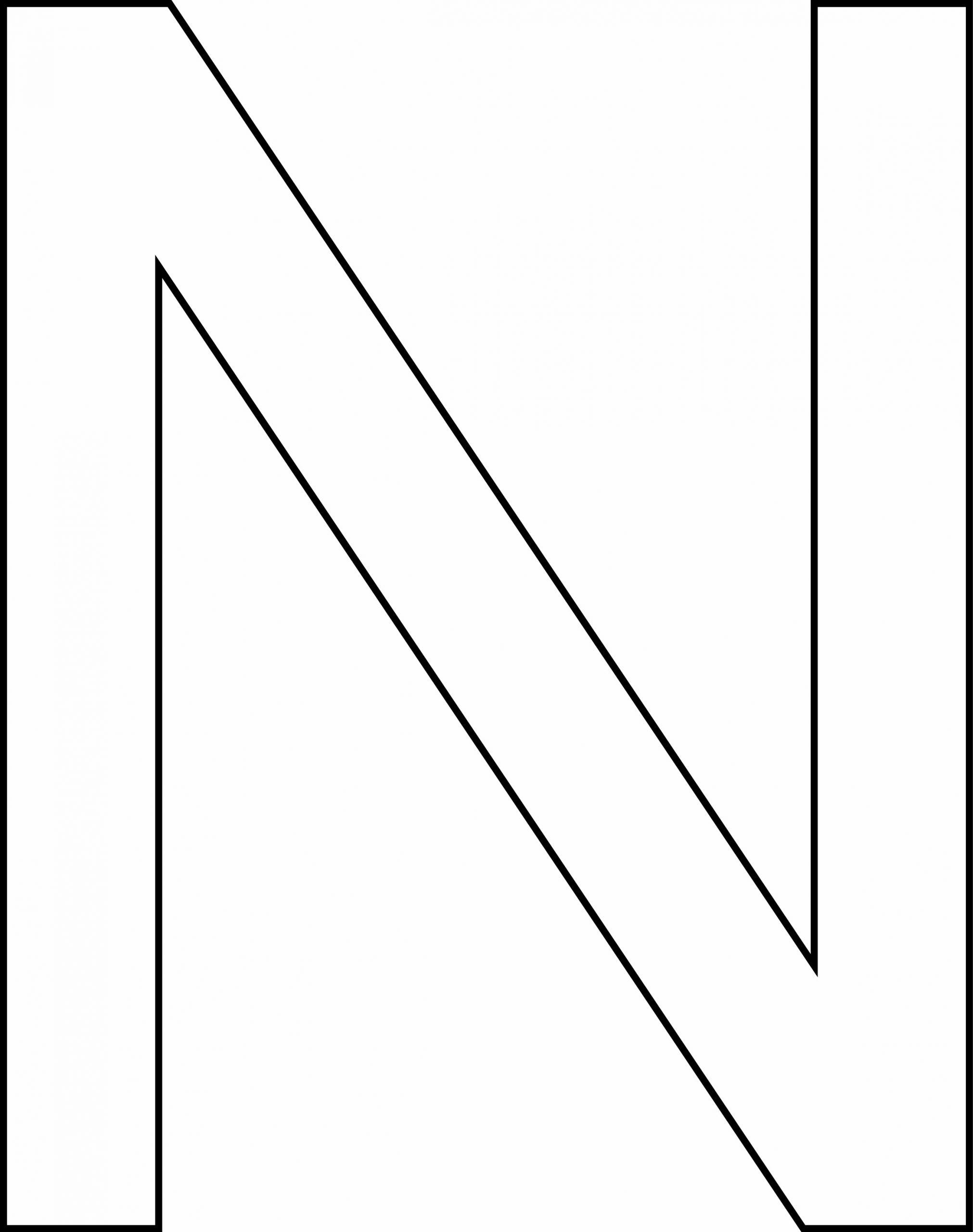 N Majuscule - Motif À Décorer pour Lettres Majuscules À Imprimer