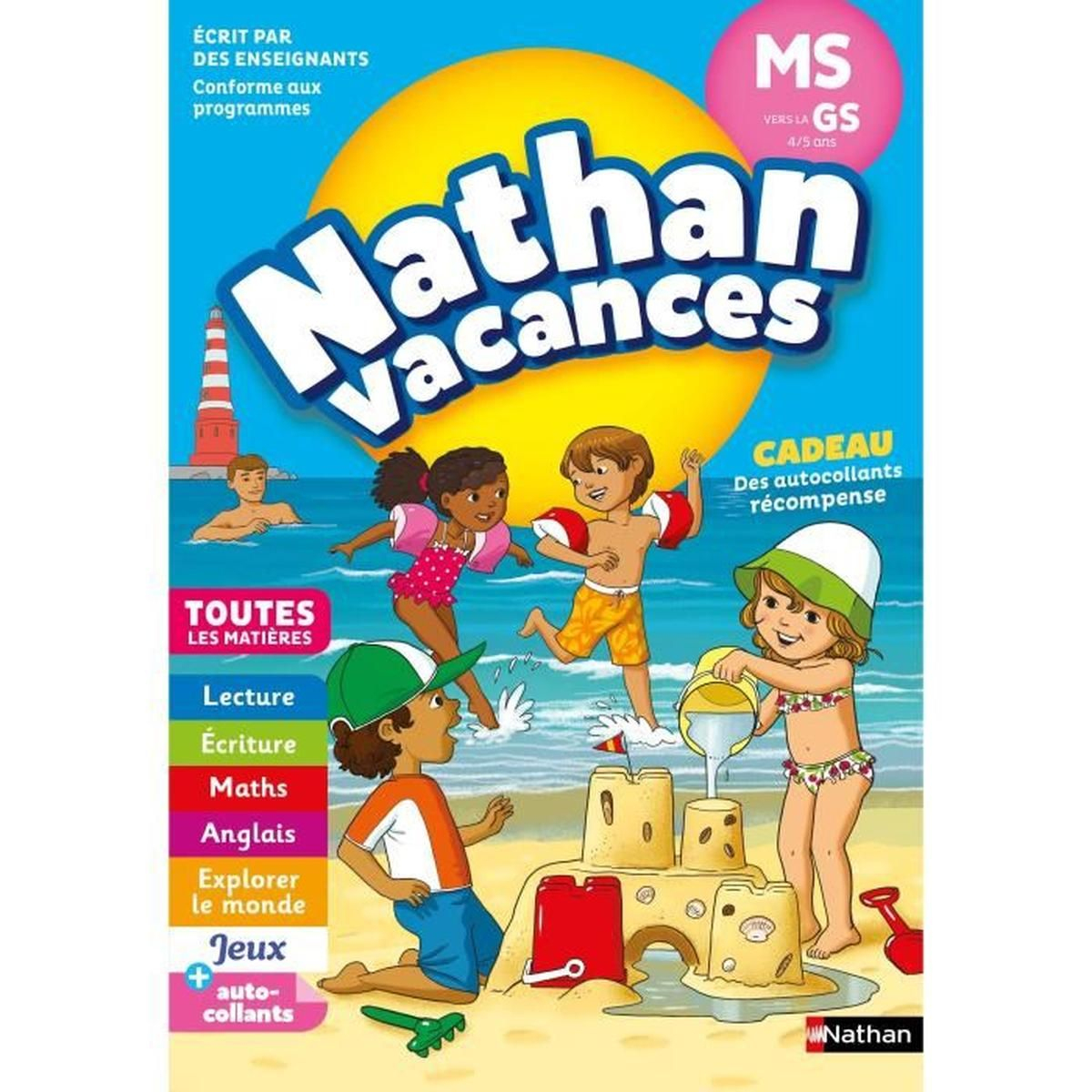 Nathan Vacances Maternellecahier De Vacances 2018 De La Moyenne Section  Vers La Grande Section - Maternelle encequiconcerne Jeux Educatif Gs