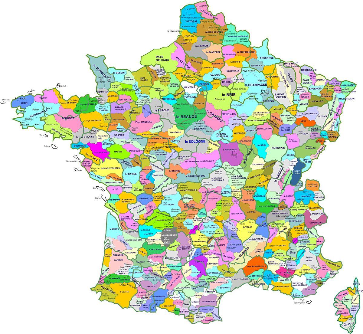 Natural Region Of France - Wikidata encequiconcerne Carte De Region France
