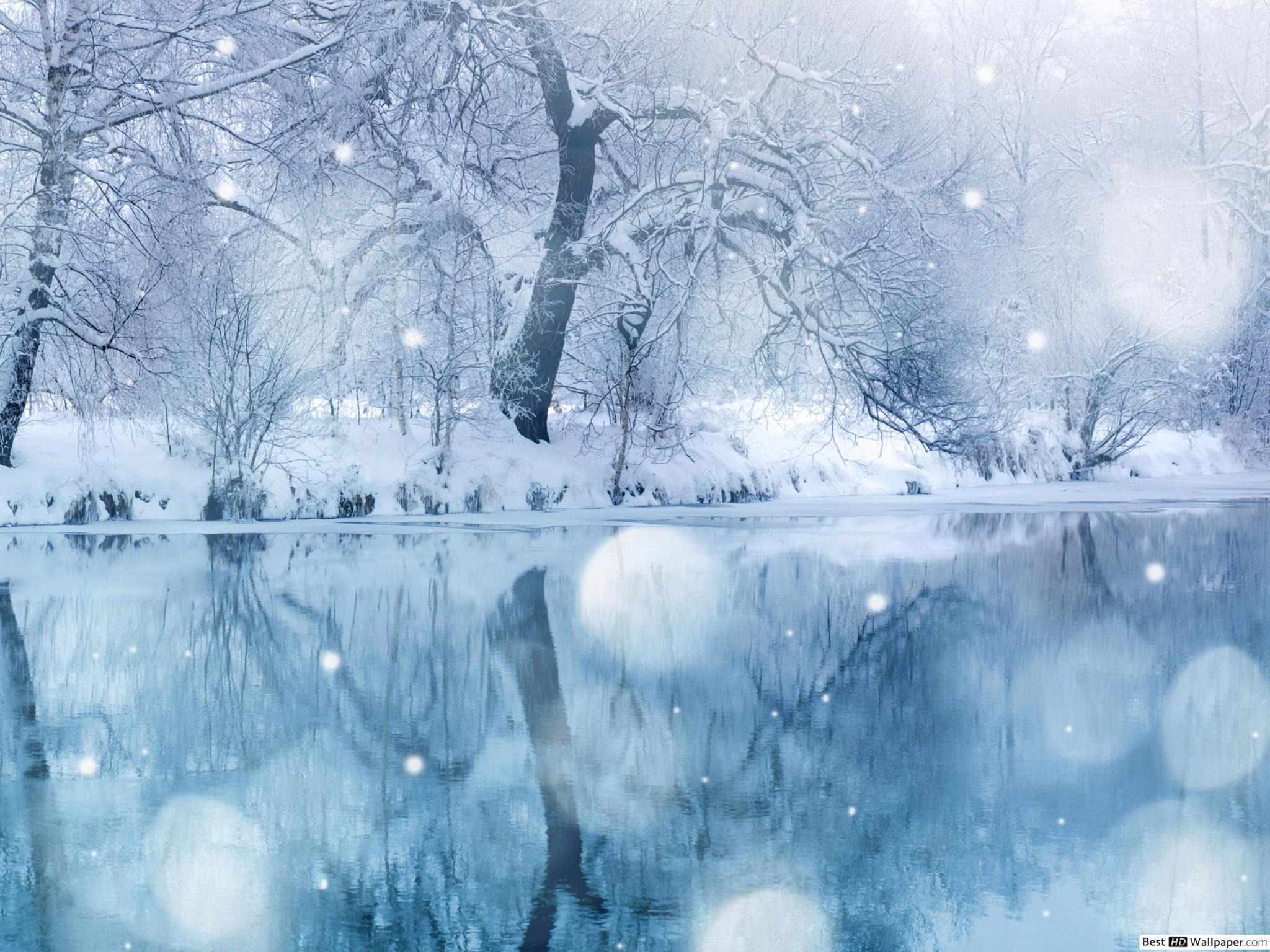 Nature - Paysage D'hiver Hd Fond D'écran Télécharger serapportantà Dessin De Paysage D Hiver
