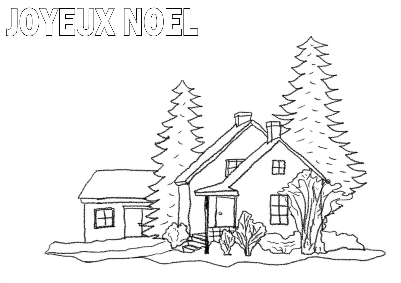 Nature Scenery: Paysage De Noel A Imprimer pour Coloriage Sur La Mer À Imprimer