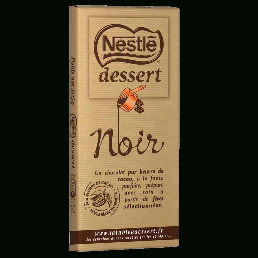 Nestlè Dessert Noir avec Tablette Chocolat Dessin