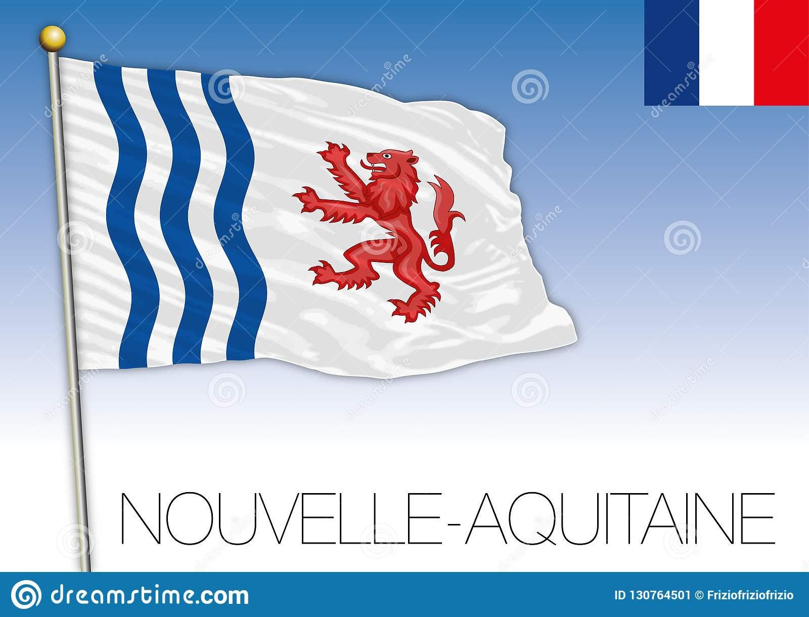 New Aquitaine Regional Flag, France, Vector Illustration pour Nouvelle Region France