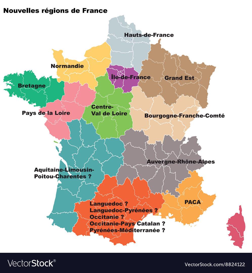 New French Regions Nouvelles Regions De France serapportantà Nouvelles Régions De France