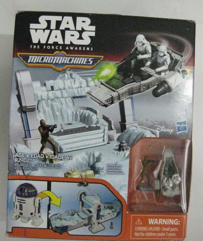 New Star Wars Micro Machines The Force Awakens R2D2 Playset Chewbacca Hasbro intérieur Jeu Force 4