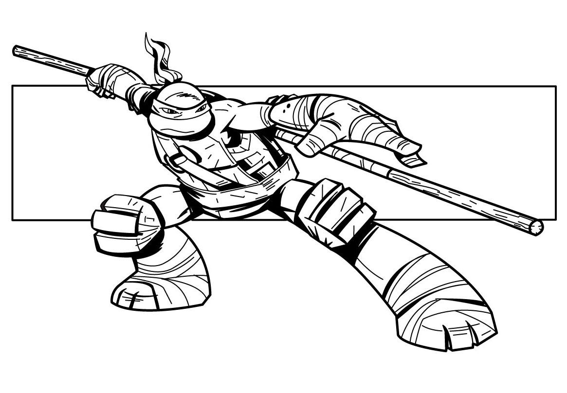 Ninja Turtles #37 (Superheroes) – Printable Coloring Pages serapportantà Dessin De Tortue Ninja