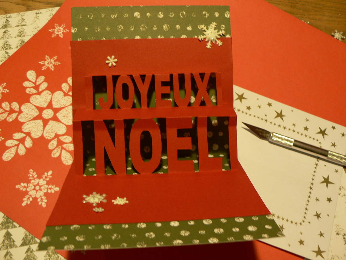 Noël 2016 Carte Kirigami - Le Blog De Pomm'rose concernant Carte Joyeux Noel À Imprimer