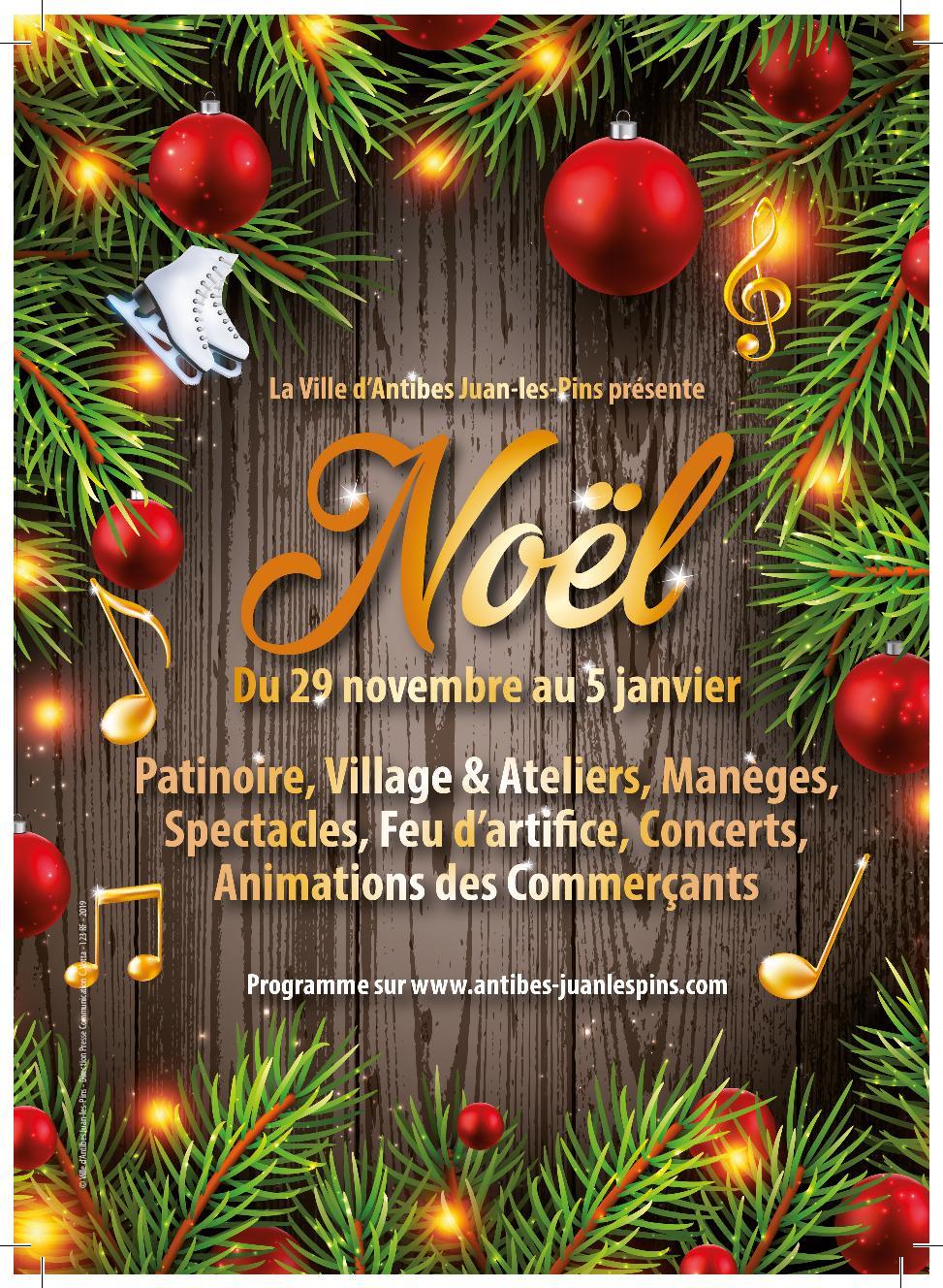 Noël À Antibes Juan-Les-Pins Du 29 Novembre 2019 Au 05 avec Activité Manuelle Noel En Creche