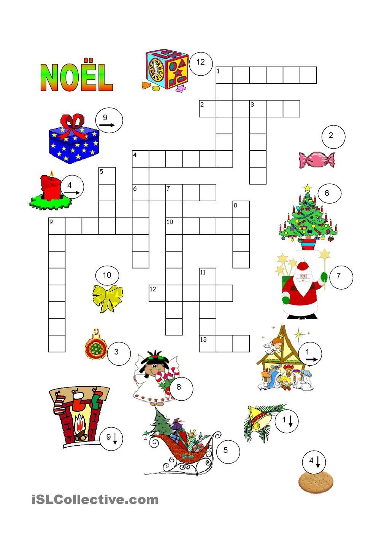 Noël Mots Croisés - #jeux Éducatif Sur Le Thème De #noël intérieur Mots Croisés Noel