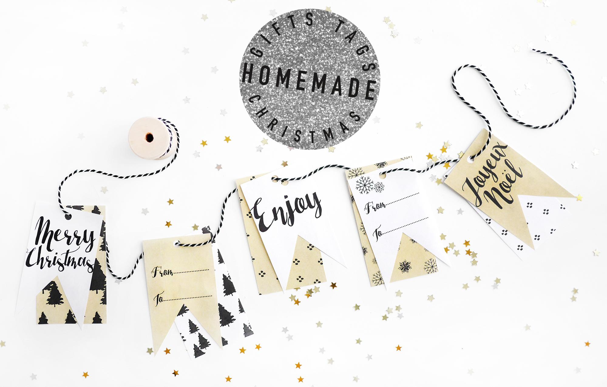Noël#2 - Les Étiquettes Cadeaux À Télécharger - Milk With Mint à Etiquette Cadeau Noel A Imprimer Gratuitement