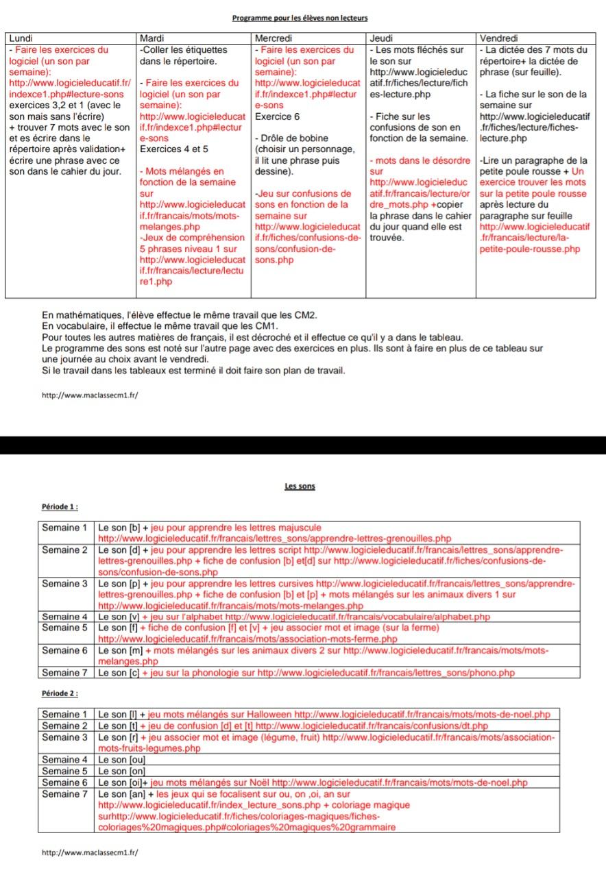 Non Lecteur - .maclassecm1.fr encequiconcerne Mots Fleches Cm1 Imprimer