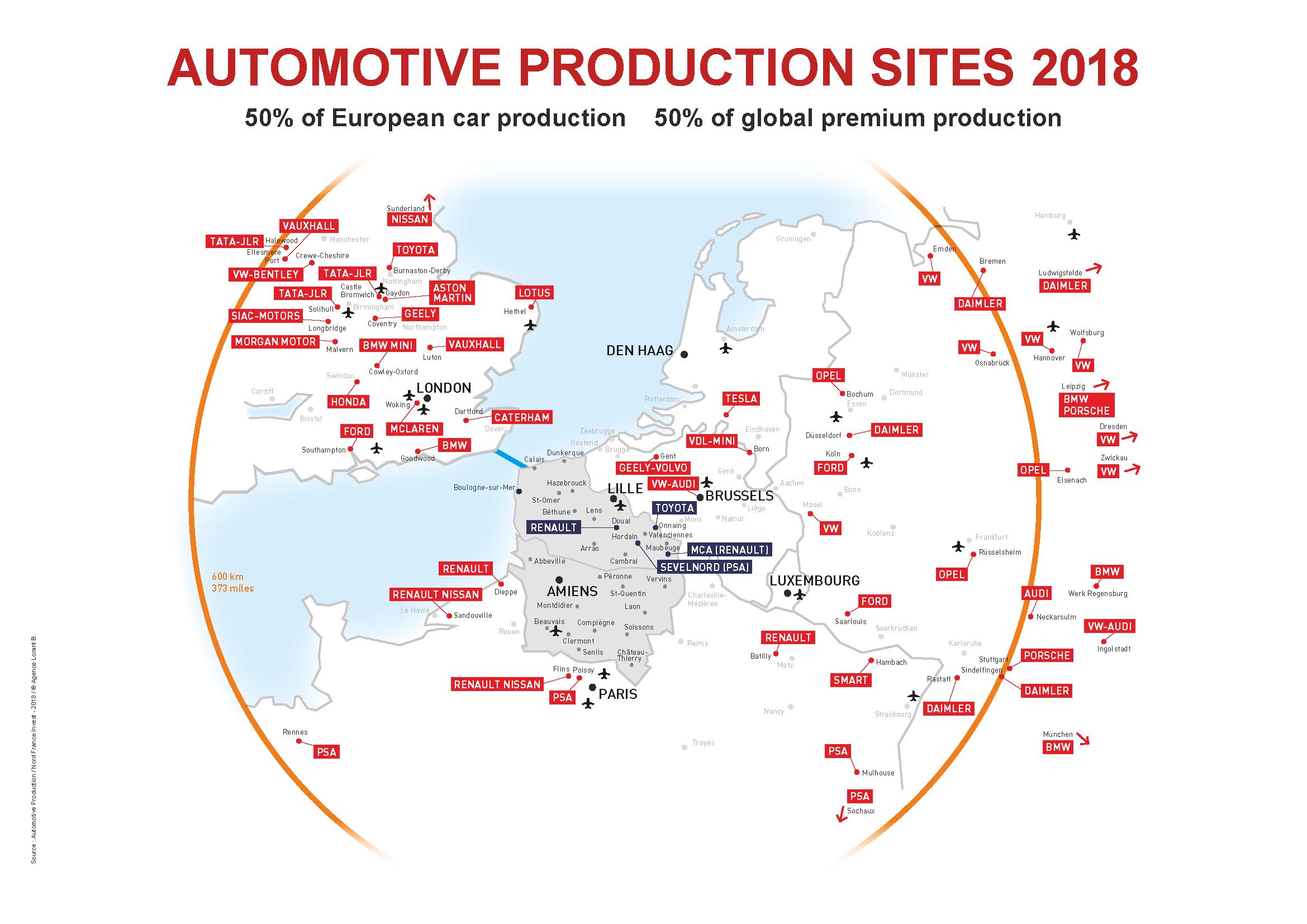 Northern France Ideal Location For The Automotive Industry encequiconcerne Liste Region De France