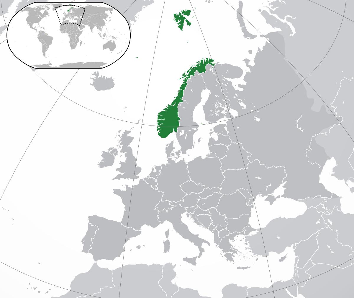 Norvège — Wikipédia à Carte Europe Avec Capitales