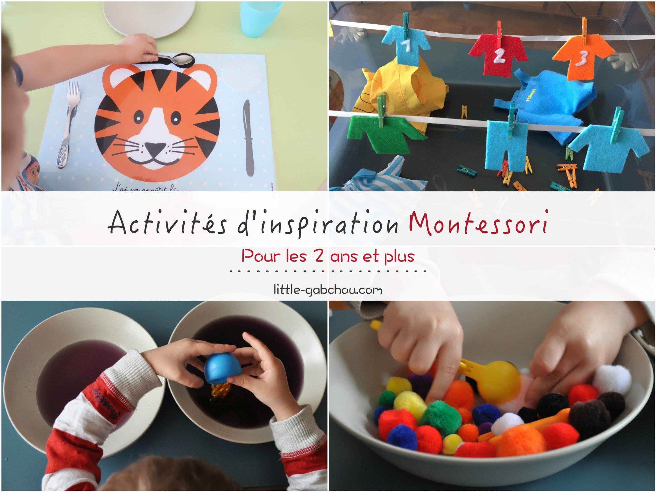 Nos Activités Préférées D'inspiration Montessori Pour Les 2 intérieur Jeux Pour Petit De 3 Ans