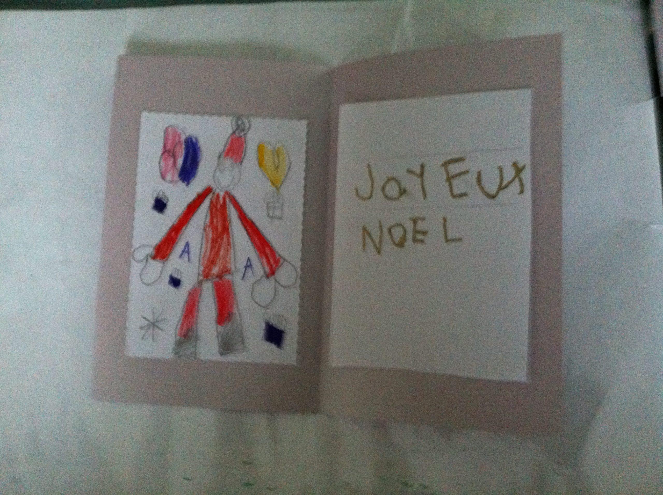 Nos Cartes De Voeux 2013-2014 Ms Et Gs - La Classe De Wjl avec Carte Noel Gs