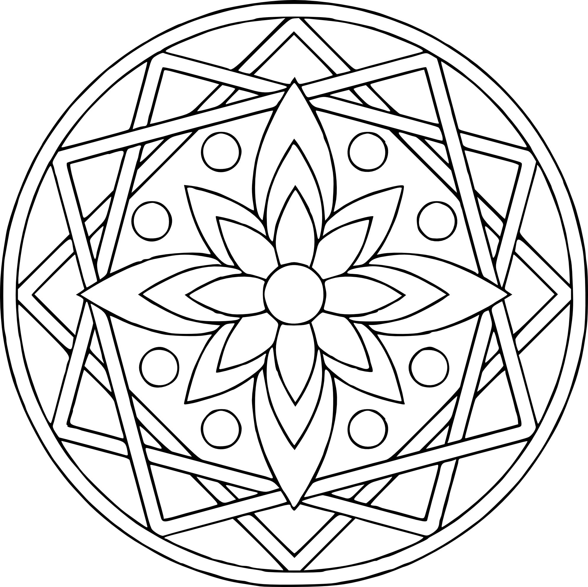 Nos Coloriages. Dessin Rosace Mandala A Colorier. Mandala dedans Dessiner Une Rosace
