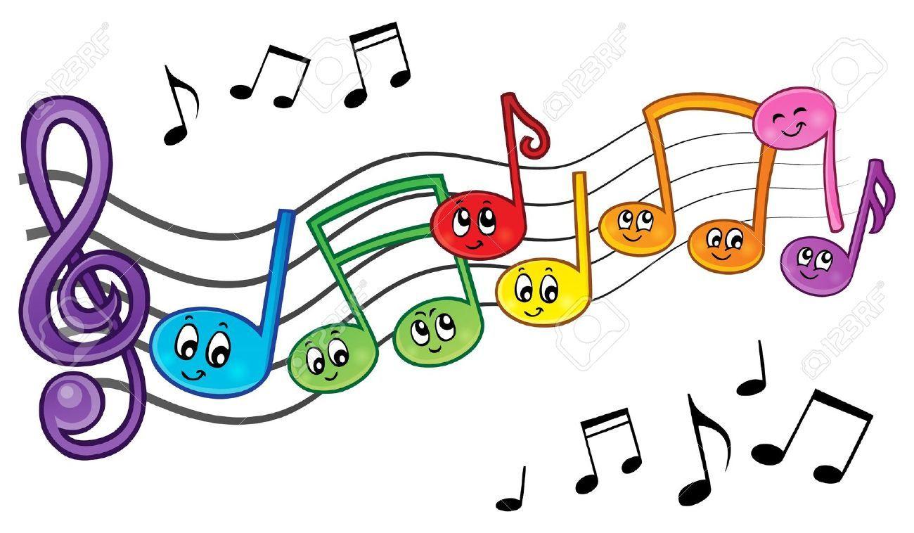 Note De Musique En Couleur A Imprimer &un04 | Aieasyspain concernant Image Instrument De Musique À Imprimer