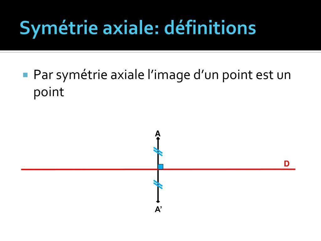 Notion De Médiatrice Définition De La Symétrie Axiale - Ppt intérieur Symetrie Axial