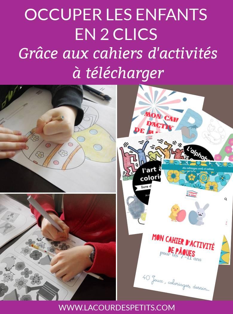 Notre Test Des Cahiers D'activités Cabane À Idées | La Cour intérieur Cahier D Activité A Imprimer