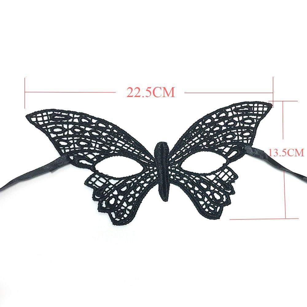 Nouveau Festival Rave Party Eye Forme Dentelle Noire Papillon Masque Forme à Masque Papillon À Imprimer
