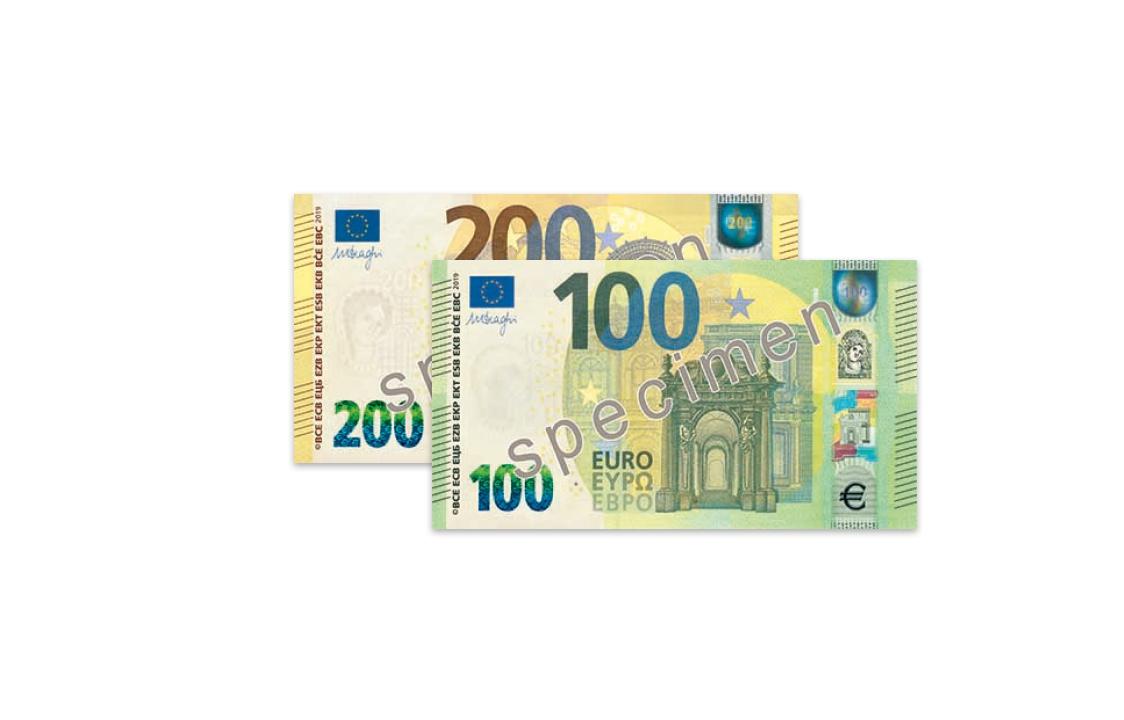 Nouveaux Billets De 100€ Et 200€ | Ck - Document Imaging concernant Billet De 100 Euros À Imprimer