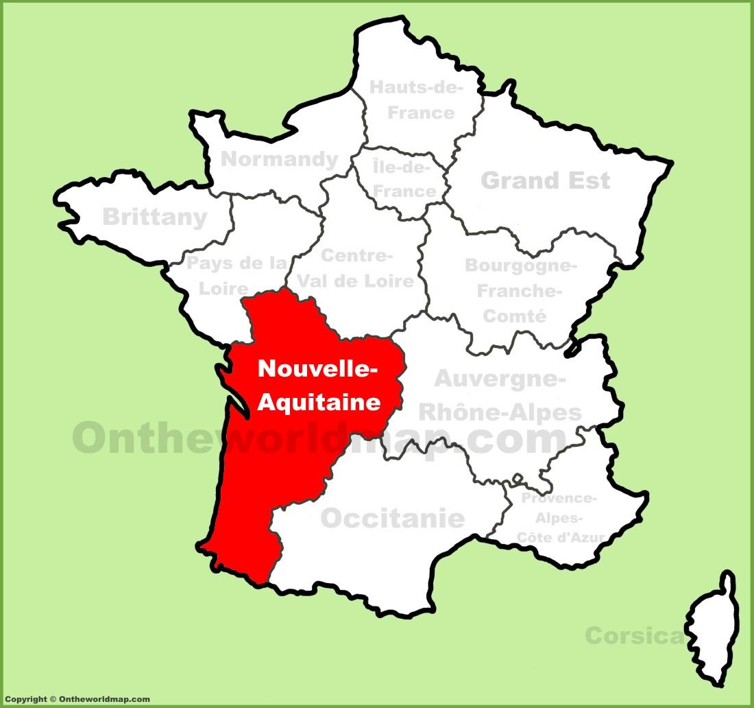 Nouvelle-Aquitaine Location On The France Map tout Nouvelle Region France