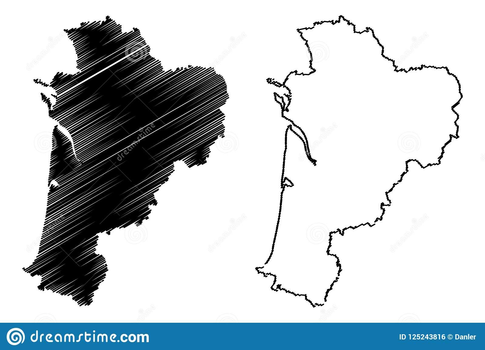 Nouvelle-Aquitaine Map Vector Stock Vector - Illustration Of dedans Nouvelle Carte Region