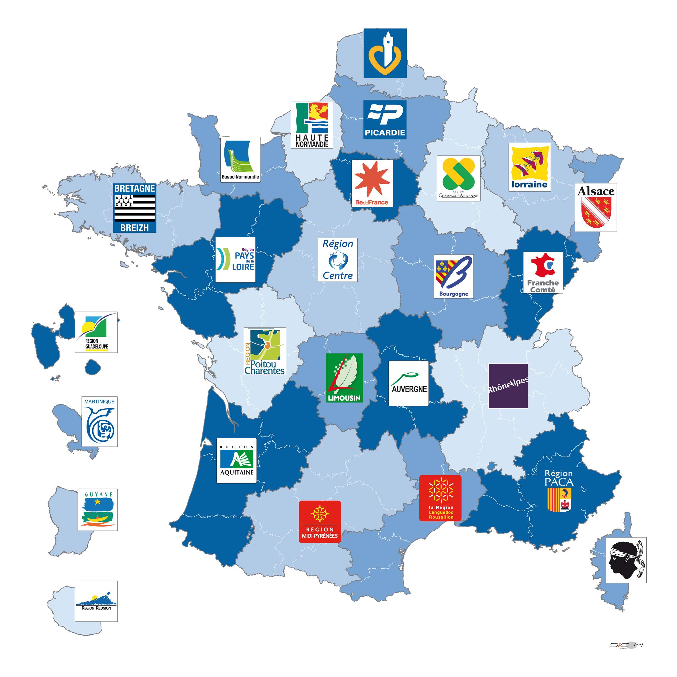 Nouvelles Plaques D'immatriculation Pour Les Automobiles serapportantà Les Nouvelles Régions De France Et Leurs Départements