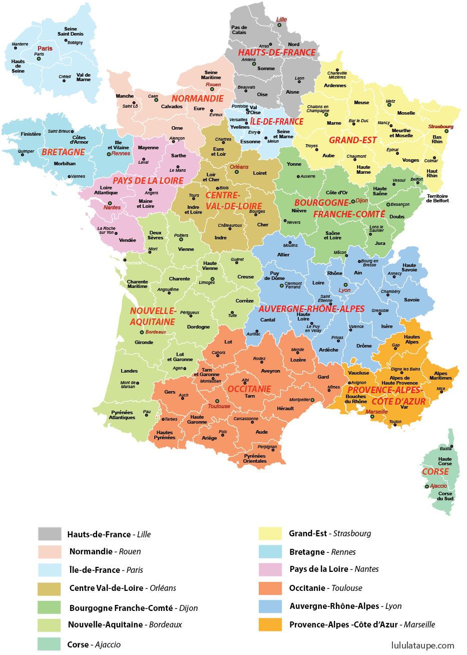 Nouvelles Régions 2016 avec Nouvelles Régions De France 2016