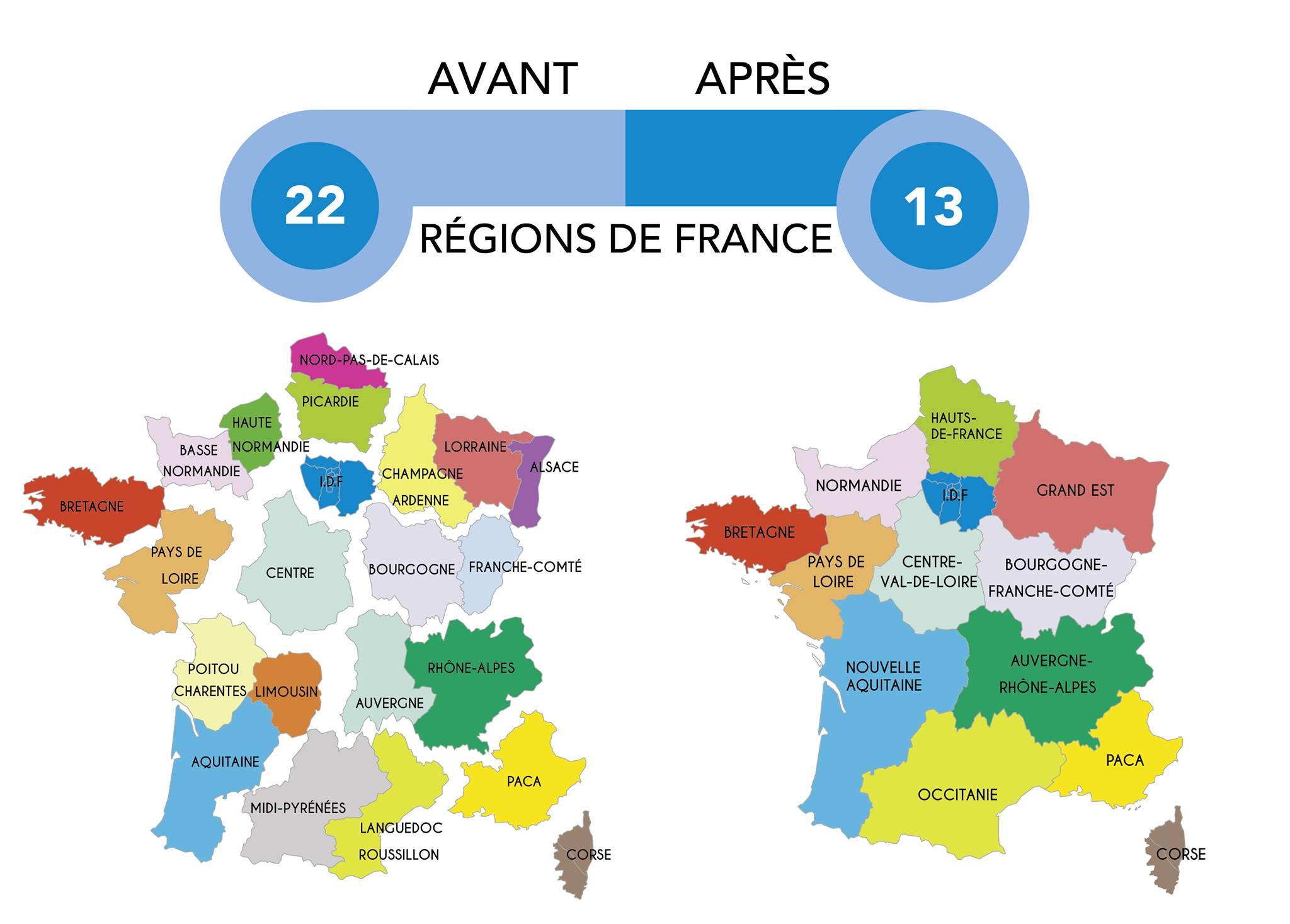 Nouvelles Régions : Découvrez Tous Les Nouveaux Noms intérieur Carte Nouvelles Régions De France