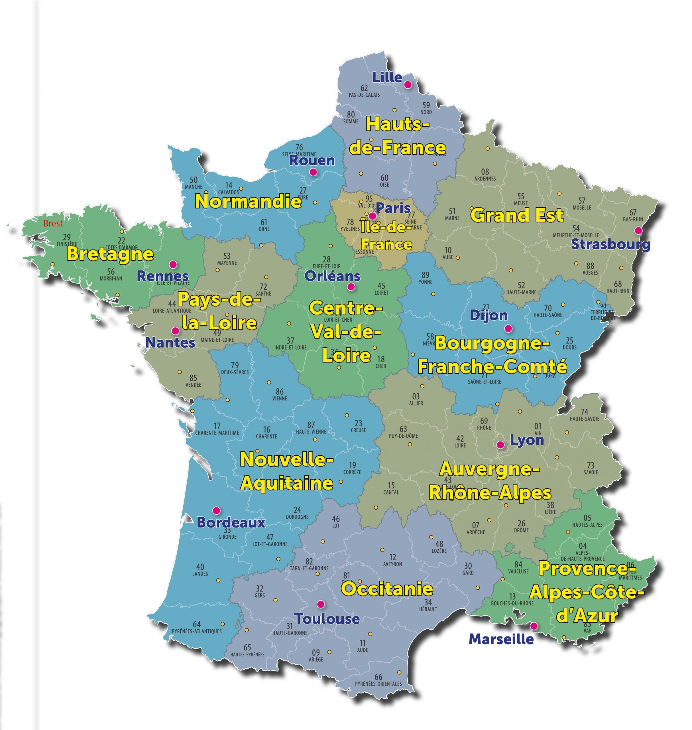 Nouvelles Régions : Des Noms Maintenant Définitifs | Maire tout Nouvelles Régions De France