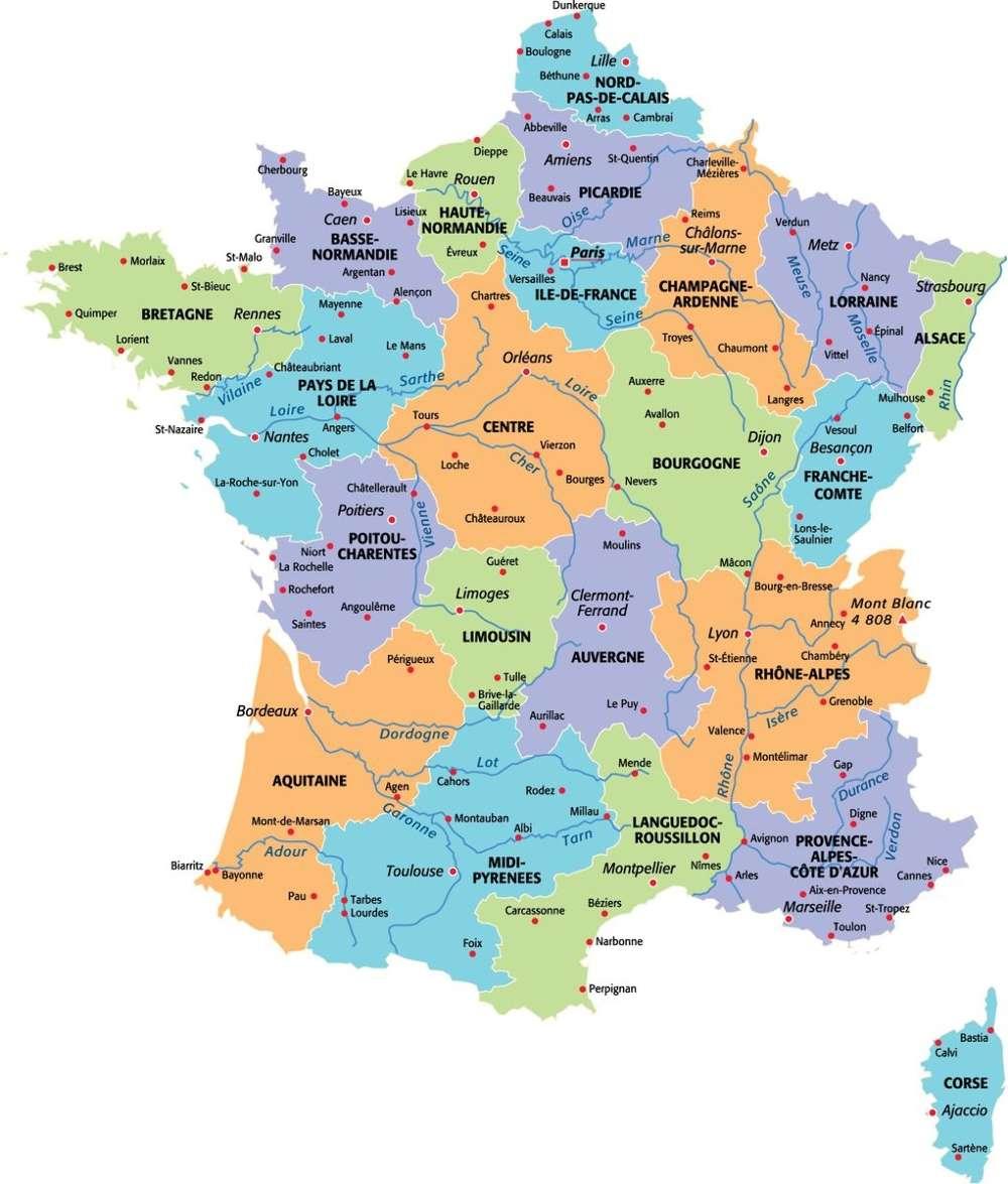 Nouvelles Régions D'ici 2017 : Quelle Sera La Nouvelle Carte à Carte Région France 2017