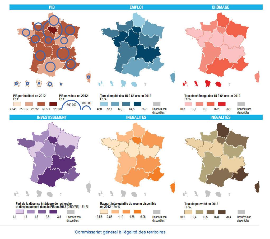 Nouvelles Régions : Les Comparaisons (Bis) - Chroniques serapportantà Nouvelles Régions De France 2016