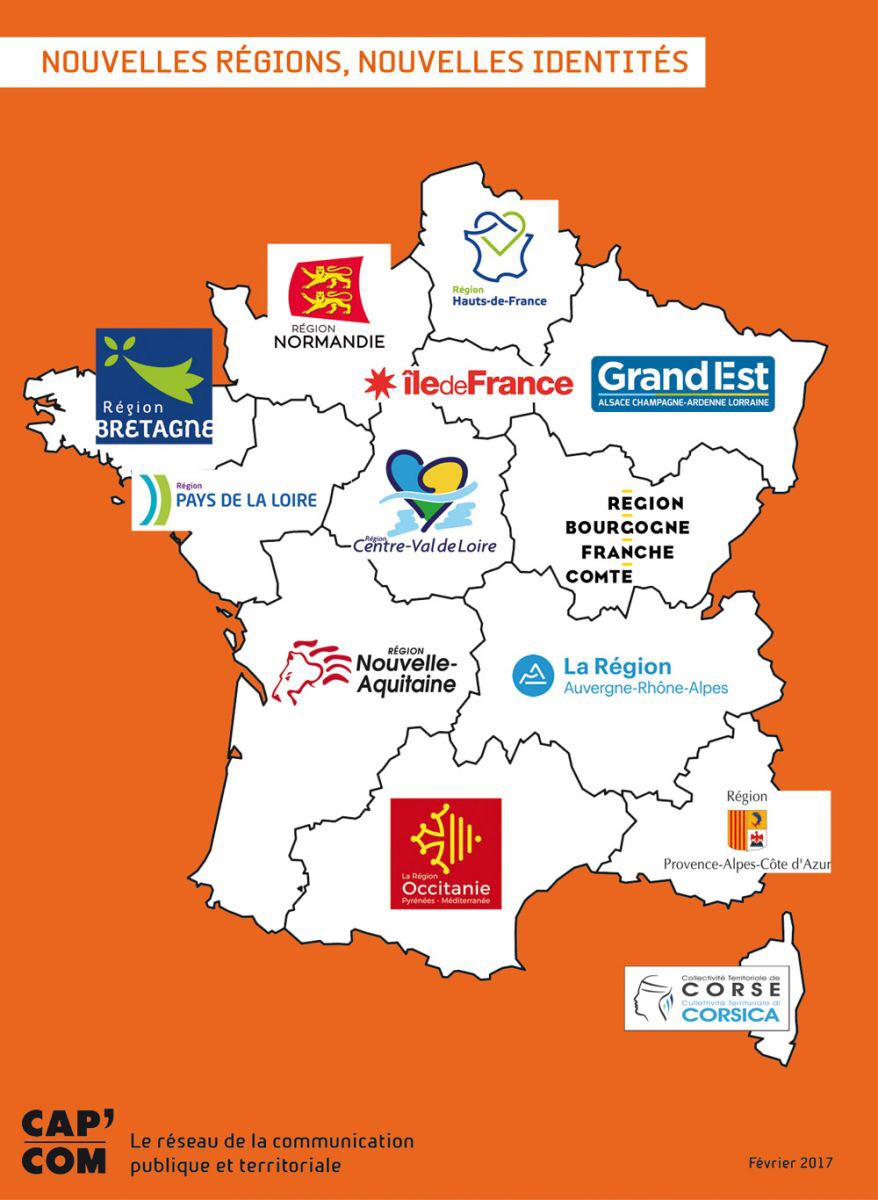 Nouvelles Régions : Les Nouveaux Logos À Télécharger intérieur Carte Des 13 Nouvelles Régions De France