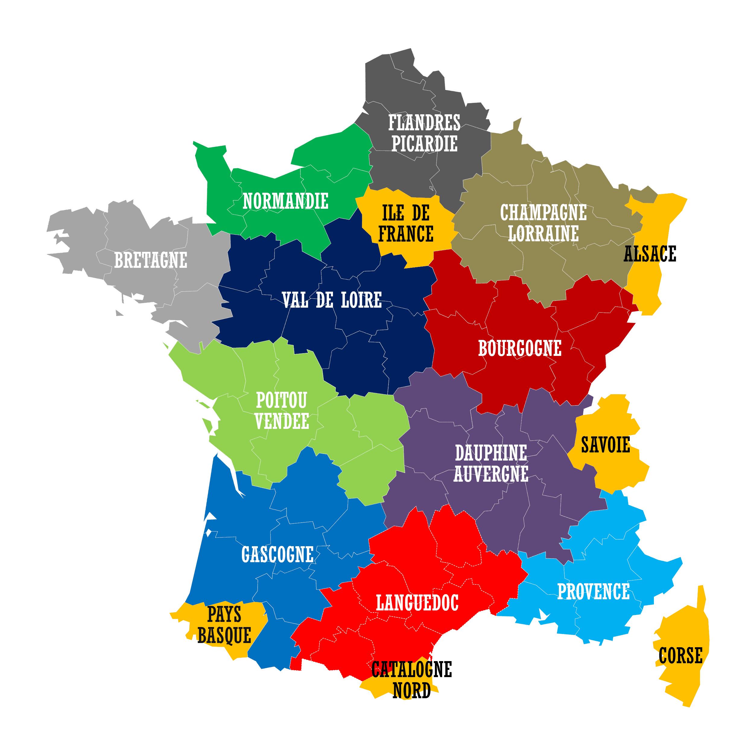 Nouvelles Régions – Redécoupage Des Collectivités encequiconcerne Les Nouvelles Régions De France Et Leurs Départements
