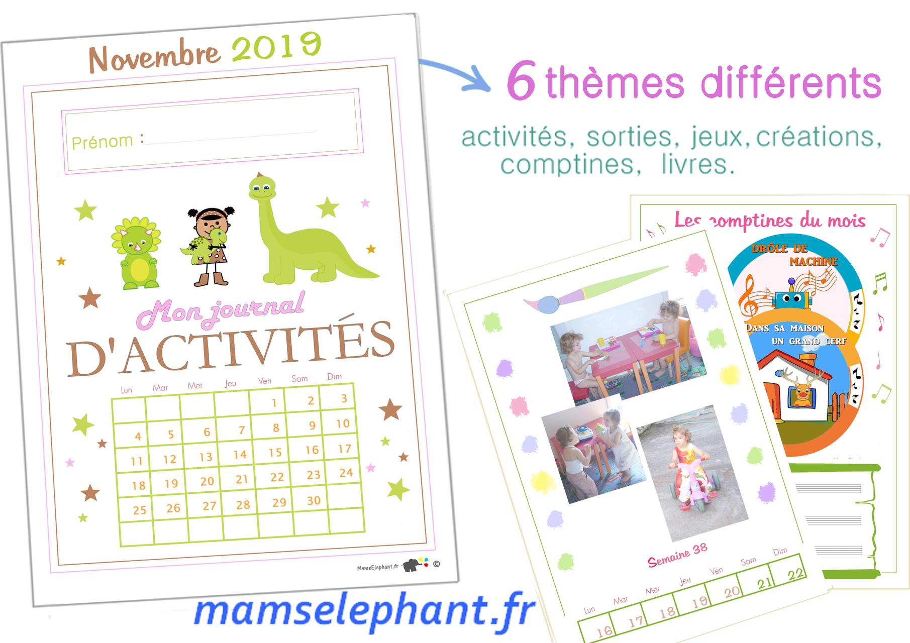 Novembre 2019 - Les Dinosaures dedans Cahier D Activité A Imprimer