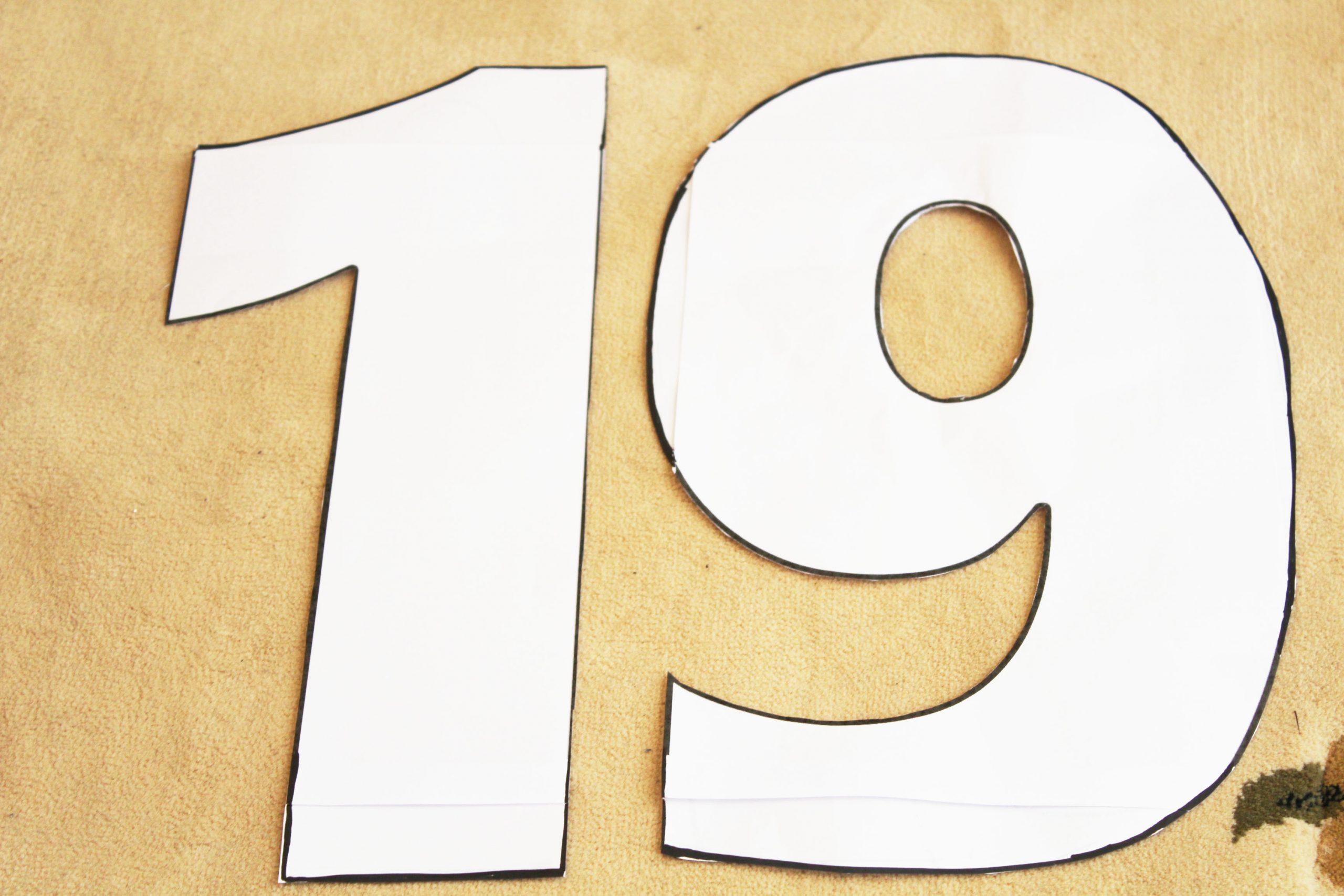 Number Cake 19 (Génoise Et Crème Diplomate) - Just One More Cake serapportantà Chiffre A Decouper