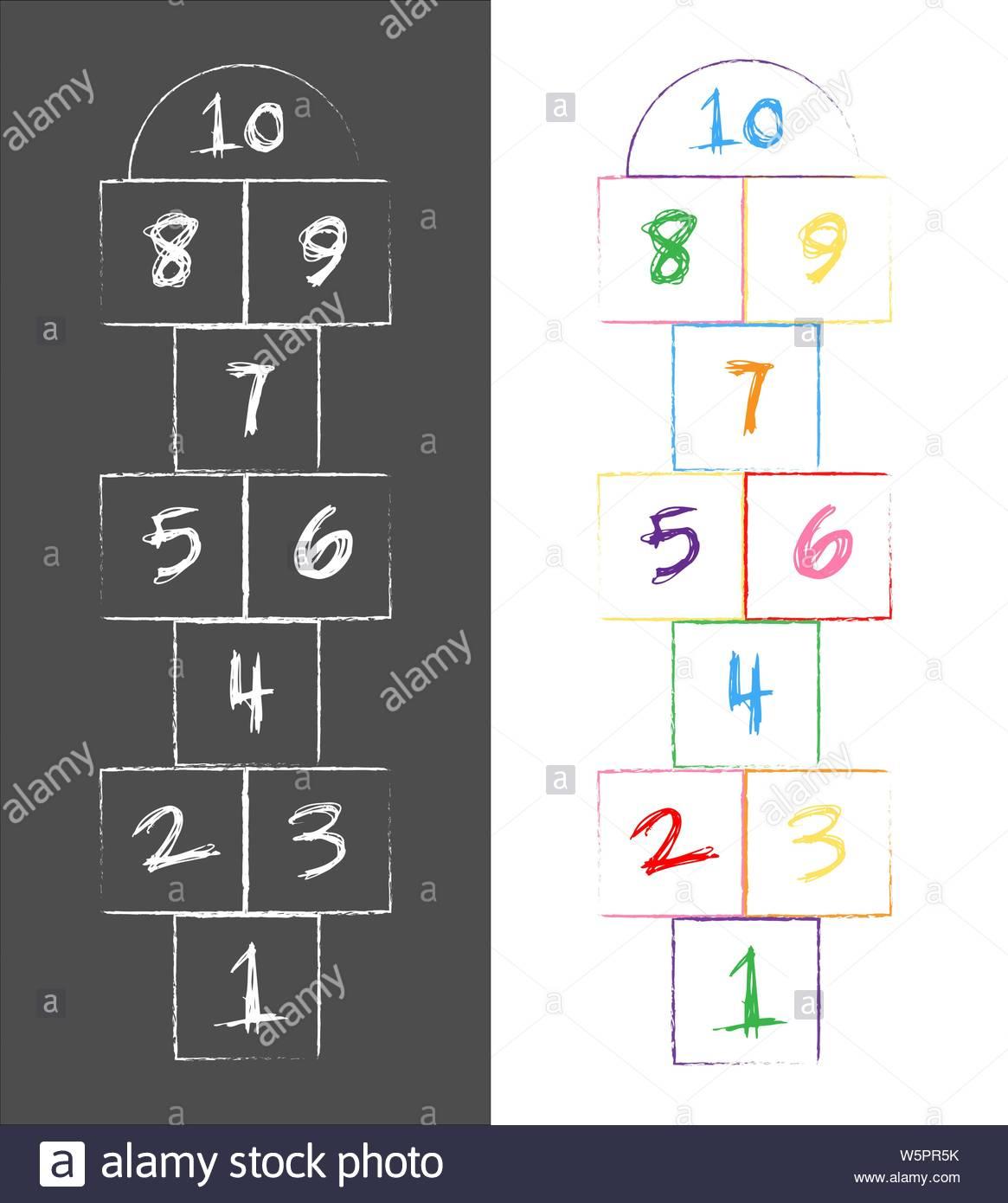 Numbers Illustration Photos & Numbers Illustration Images concernant Jeux Avec Des Nombres