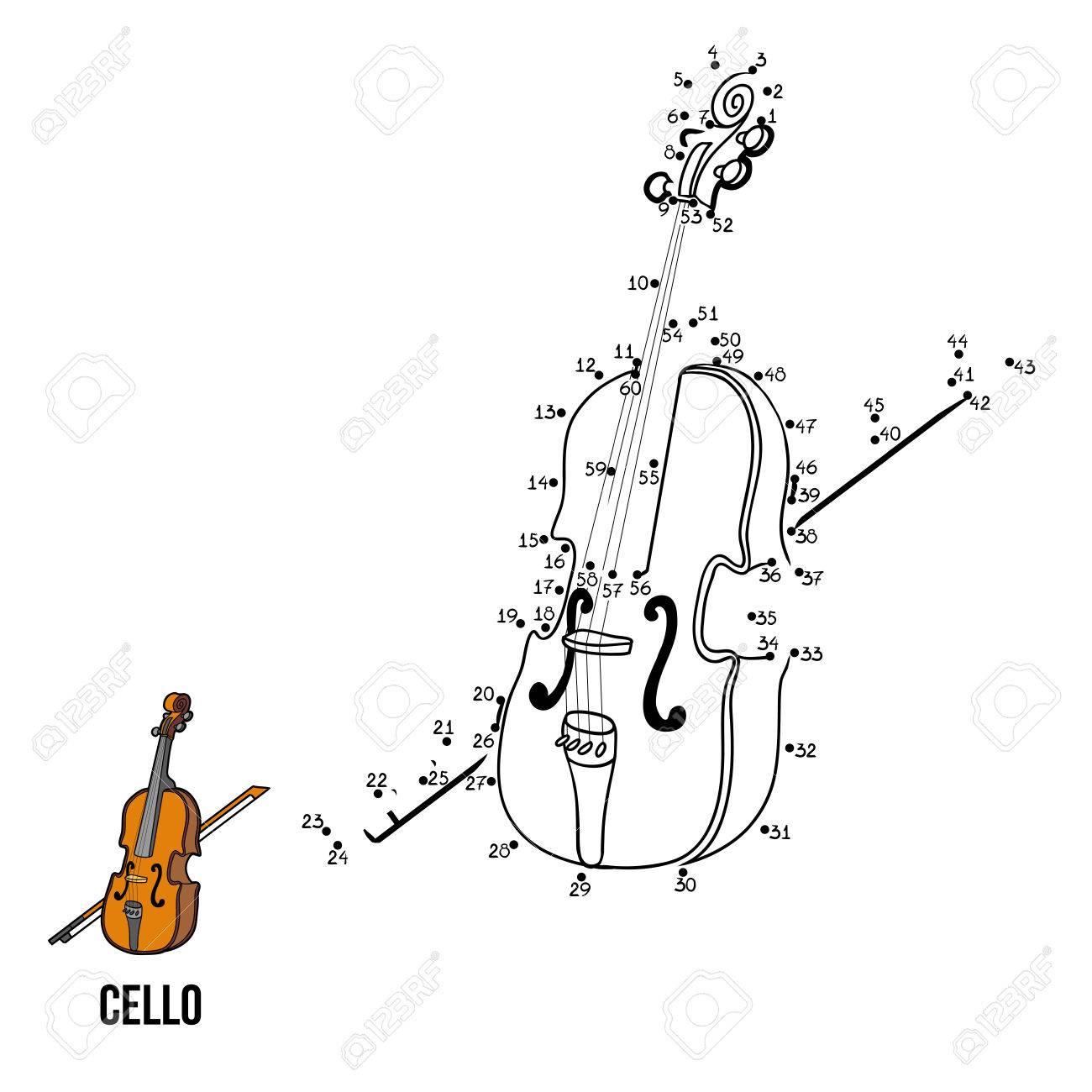 Numbers Jeu Pour Les Enfants, L'éducation Jeu: Instruments De Musique  (Violoncelle) pour Jeu Des Instruments De Musique