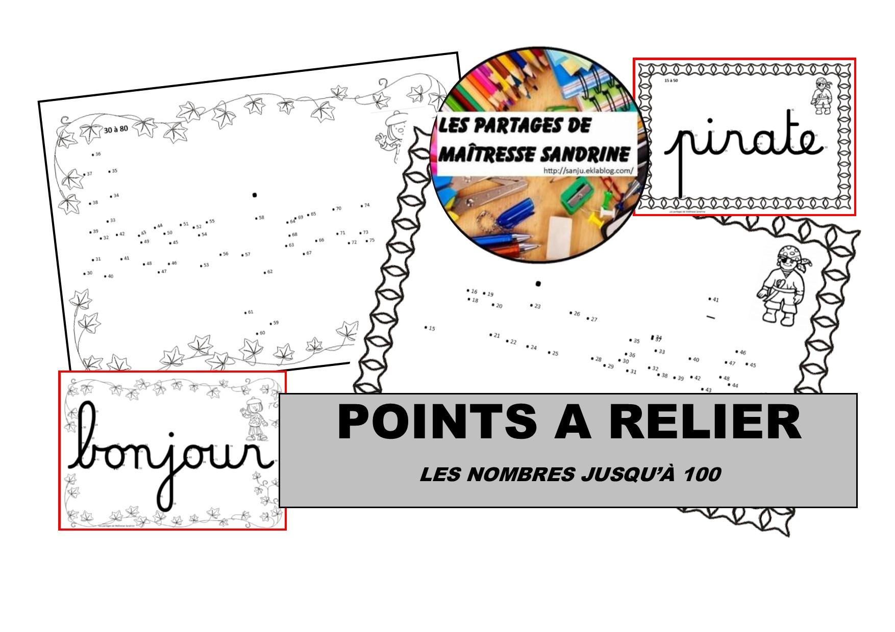 Numération - Points À Relier - Les Partages De Maîtresse destiné Relier Les Points De 1 À 30