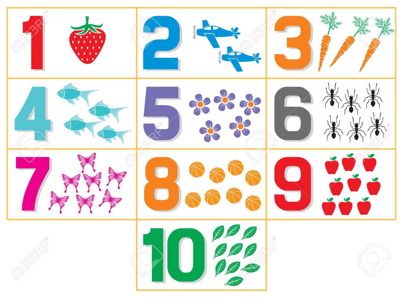 Numéros D'apprentissage Pour Les Enfants (Jeu De Comptage Pour Enfants De  Maternelle) dedans Jeux Apprentissage Maternelle