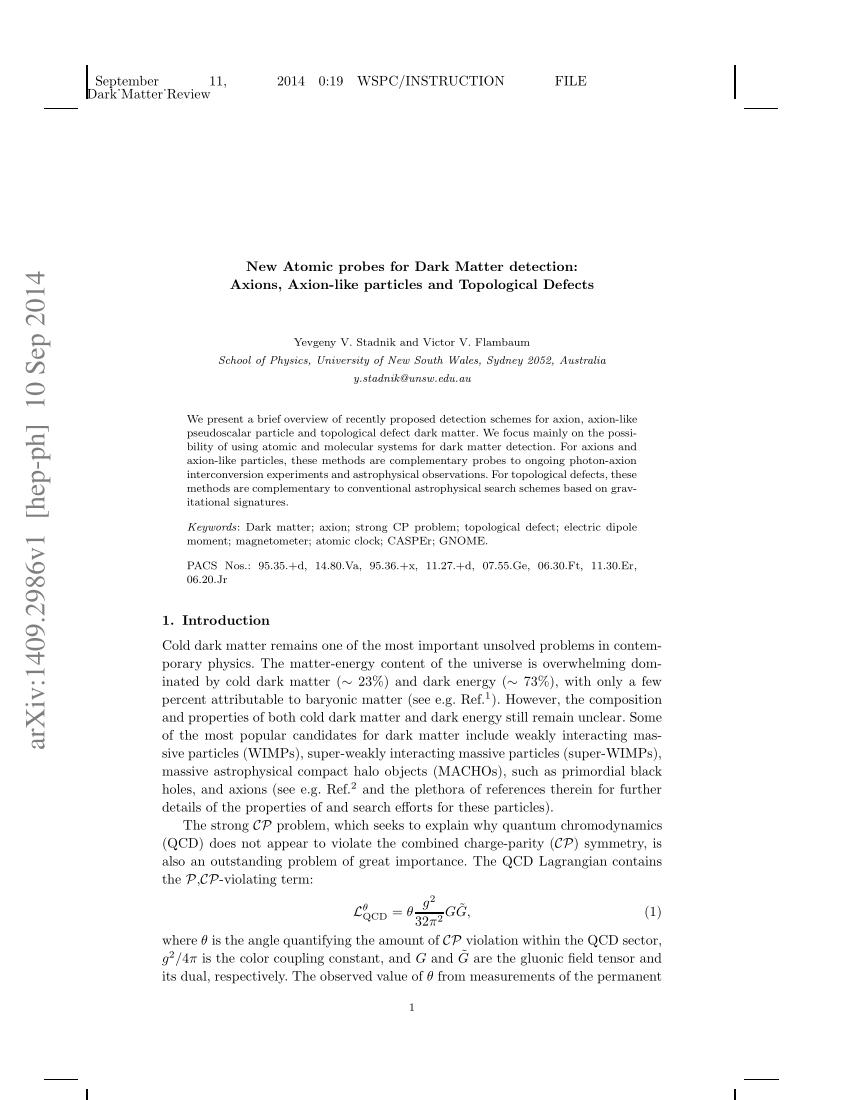 Observation Of A Parity Violation In Cesium concernant Mot Croisé Cp