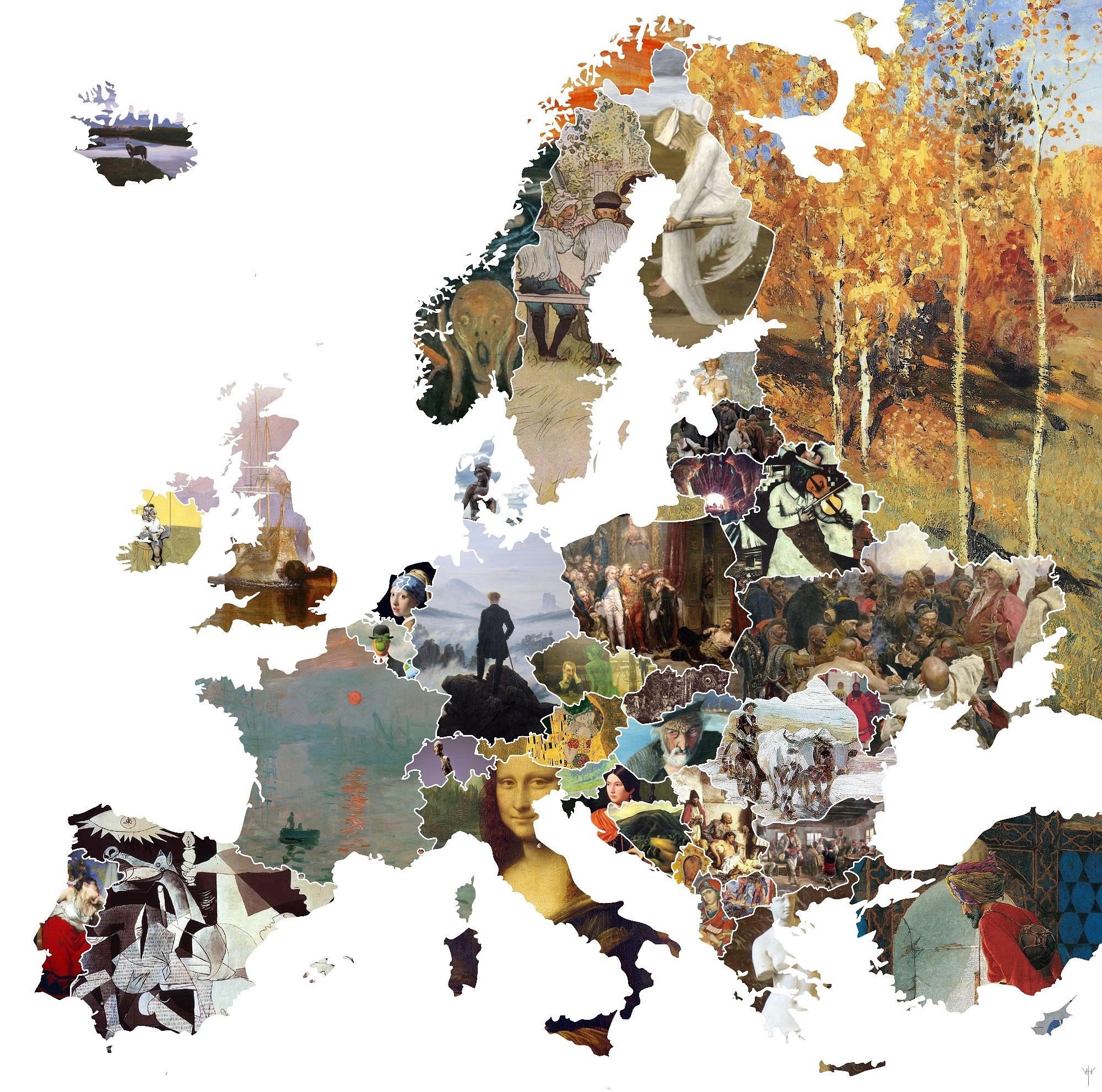 Œuvres Emblématiques - The Ash Tree encequiconcerne Carte D Europe Avec Pays