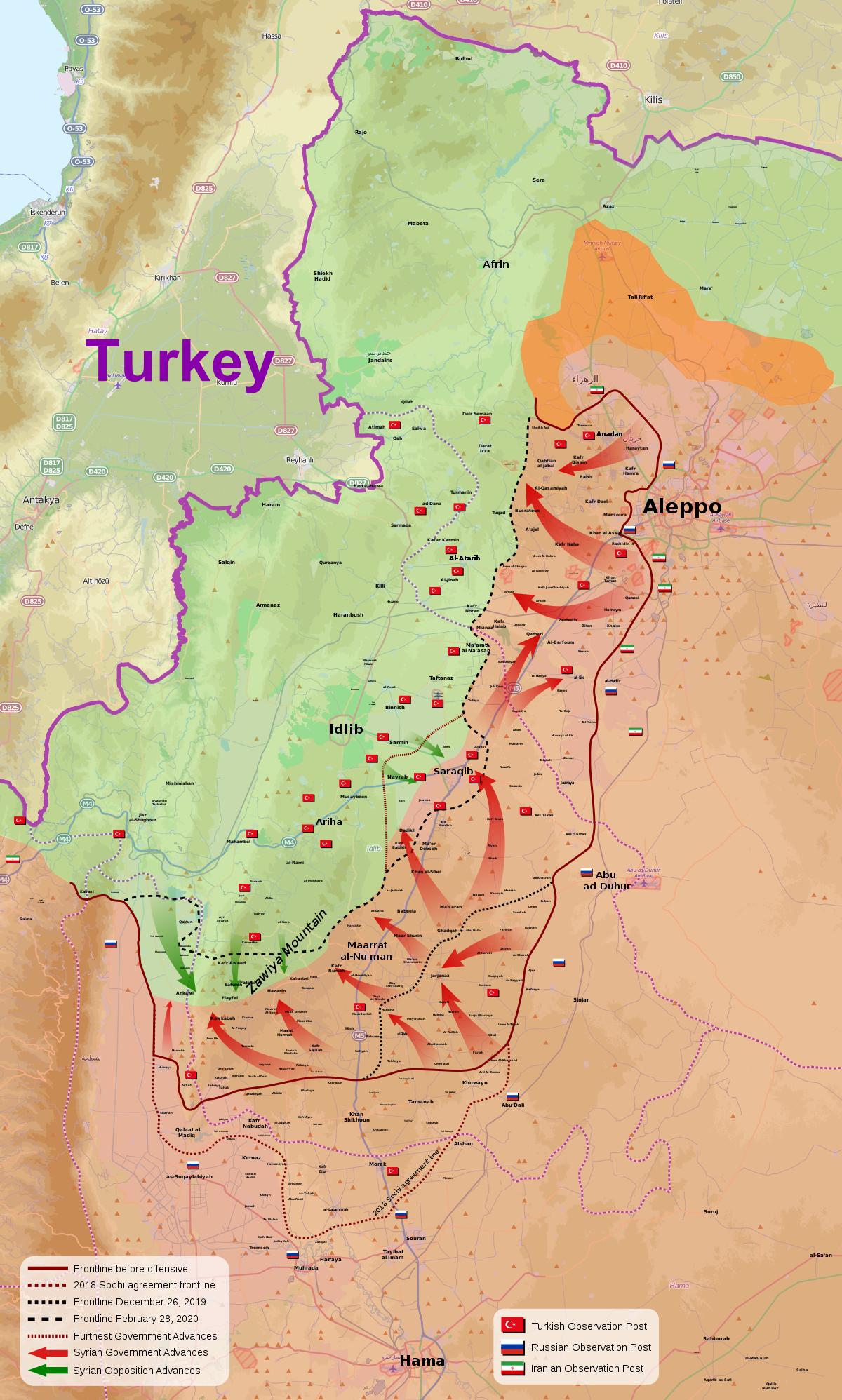 Offensive De Maarat Al-Nouman Et Saraqeb — Wikipédia concernant Carte Nouvelle Region