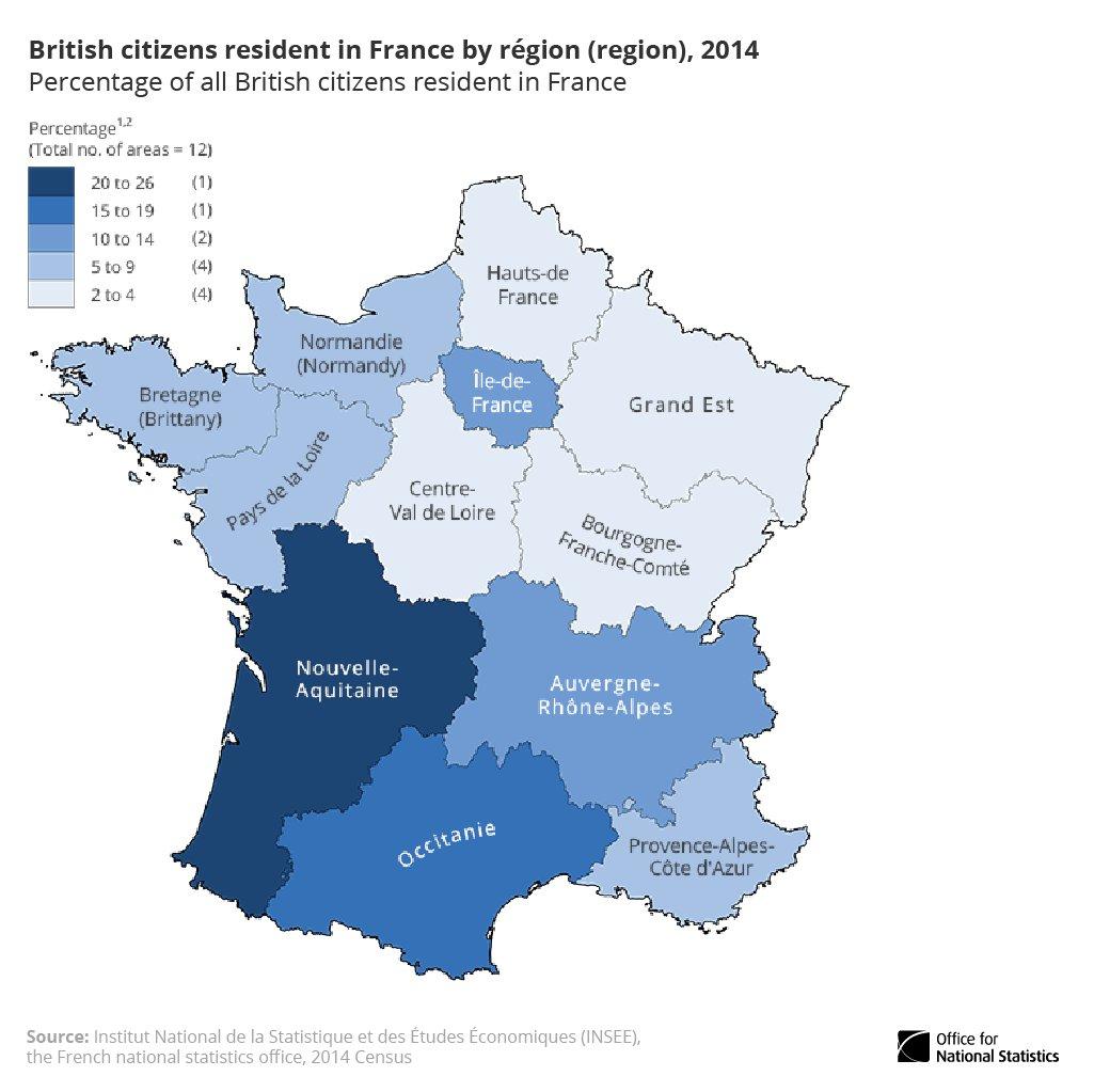 "Office For National Statistics Ar Twitter: ""26% Of British avec Nouvelle Region France"