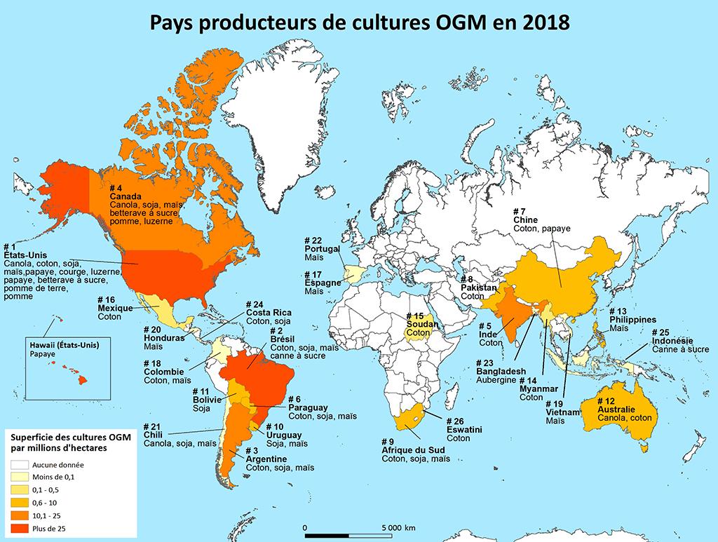 Ogm : Principaux Pays Producteurs concernant Carte Union Européenne 2017