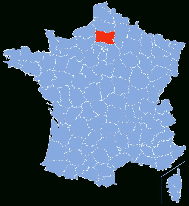 Oise (Département) — Wikipédia encequiconcerne Carte De France Avec Départements Et Préfectures