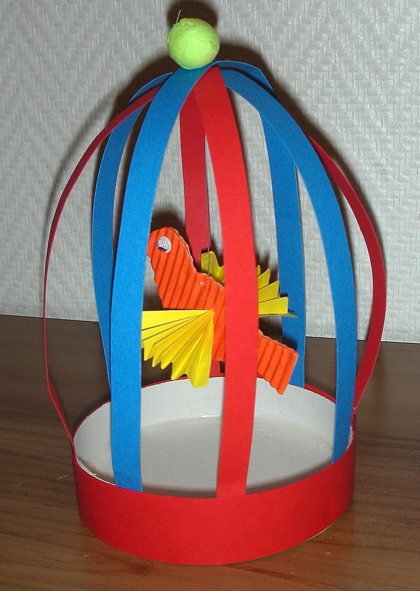 Oiseau Dans Sa Cage - Bricolage Facile Et Sympa - La Maison intérieur Decoupage Papier Facile